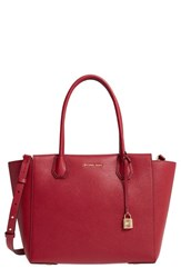 Michael Michael Kors Mercer Leather Satchel Red Cherry Gold