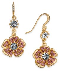 Charter Club Gold Tone Multi Stone Flower Drop Earrings Created For Macy's