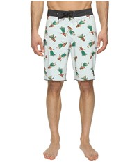 Vans Mixed Scallop Boardshorts White Hula Daze Men's Swimwear