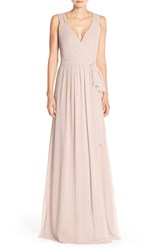 Women's Ceremony By Joanna August 'Newbury' Gathered Sleeve Wrap Gown All Tomorrows Parties