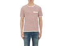 Outerknown Men's Striped Slub Jersey T Shirt Ivory