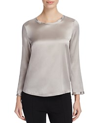 Basler Stretch Silk Blouse Diamond Gray