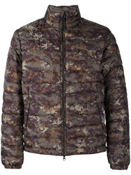 Woolrich Camouflage Jacket Men Polyester Feather Duck Feathers Xxl Green