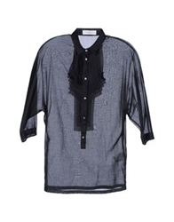 Mauro Grifoni Shirts With 3 4 Length Sleeves Black