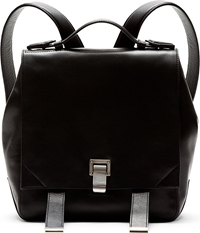 Proenza Schouler Black Leather Small Backpack