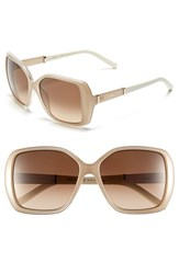 Chloe Women's Chloe 'Daisy' 58Mm Rectangular Sunglasses Light Turtle Dove