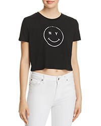 Knowlita Ny Smiley Cropped Tee 100 Exclusive Black