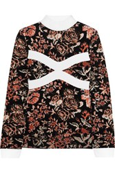 J.W.Anderson Floral Intarsia Knitted Turtleneck Sweater Orange