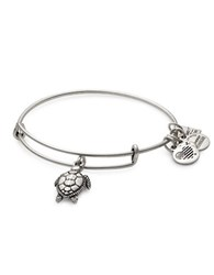 Alex And Ani Sea Turtle Charm Bangle Silver