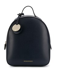 Emporio Armani Textured Faux Leather Backpack 60