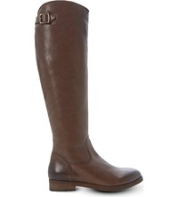 Bertie Teddi Knee High Leather Boots Brown Leather