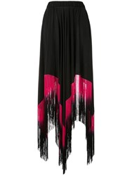 Romance Was Born Opal Goddess Fringe Skirt Black