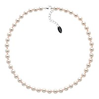 Finesse Glass Faux Pearl Necklace Blush