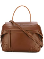 Tod's Zipped Tote Brown