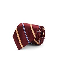 Fairfax Striped Silk Satin Necktie Wine