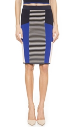 Endless Rose Striped Pencil Skirt Blue