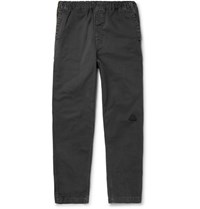 Cav Empt Tapered Cotton Twill Drawstring Trousers Black