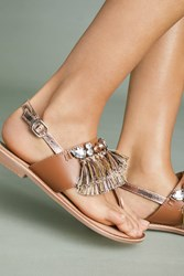 Gioseppo Frayed Sandals Brown