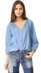 Soft Joie Scarlina Blouse Indigo