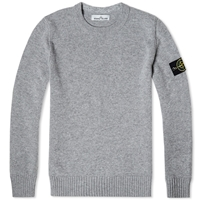 Stone Island Lambswool Detail Crew Knit Grey
