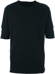 Attachment Double Sleeve T Shirt Black