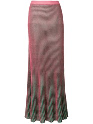 L'autre Chose Ribbed Skirt Pink And Purple