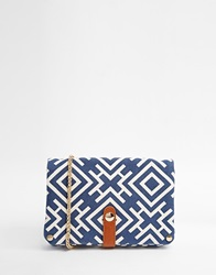 Street Level Aztec Print Clutch Bag Bluegeo