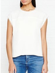 Whistles Gia Shell Top Ivory