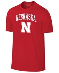 Retro Brand Men's Nebraska Cornhuskers Midsize T Shirt Red