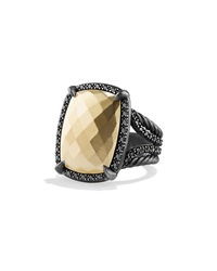 Chatelaine Ring With Gold Dome And Black Diamonds David Yurman
