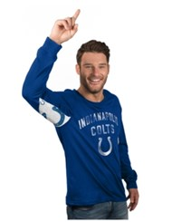 G3 Sports Hands High Men's Long Sleeve Indianapolis Colts Play Action T Shirt Blue
