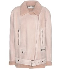 Acne Studios Mytheresa.Com Exclusive More Shearling Lined Suede Jacket Neutrals