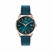 Henry London Ladies Stratford Leather Watch Green Rose Gold