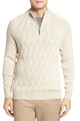 Tommy Bahama Ocean Crest Quarter Zip Sweater Brown