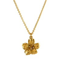 Alex Monroe Single Flower Pendant Necklace Gold