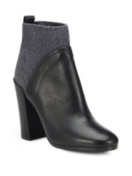 Vince Emerson Stretch Leather Ankle Booties Black