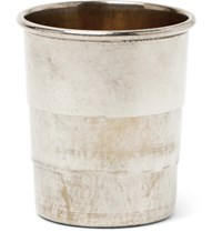 Foundwell Vintage 1920S Collapsible Silver Shot Glass Silver