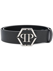 Philipp Plein Pp Plaque Belt 02 Black