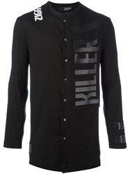 Tom Rebl Logo Print Shirt Black