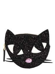 Lulu Guinness Glitter Kooky Cat Coin Purse