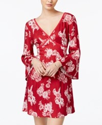 American Rag Floral Print Fit And Flare Dress Only At Macy's Biking Red