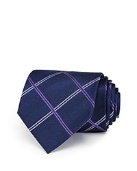 Burma Bibas Plaid Silk Classic Tie Compare At 49.50 Navy Purple