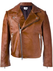 Cmmn Swdn Cropped Biker Jacket Brown