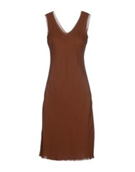 Gattinoni Knee Length Dresses Cocoa
