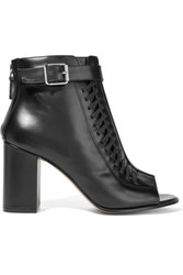 Belstaff Brinkley Whipstitched Leather Ankle Boots Black