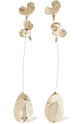Valentino Garavani Gold Tone Clip Earrings One Size