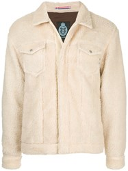 Guild Prime Furry Detail Jacket Acrylic Polyester Nude Neutrals