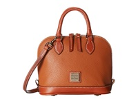 Dooney And Bourke Pebble Leather Bitsy Bag Caramel W Tan Trim Satchel Handbags