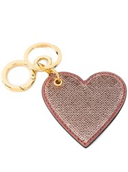 Burberry Sequin Heart Keyring Pink Purple