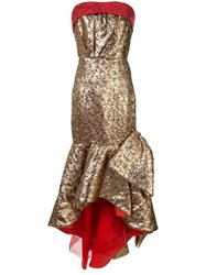 Bambah Mermaid Bow Gown Gold
